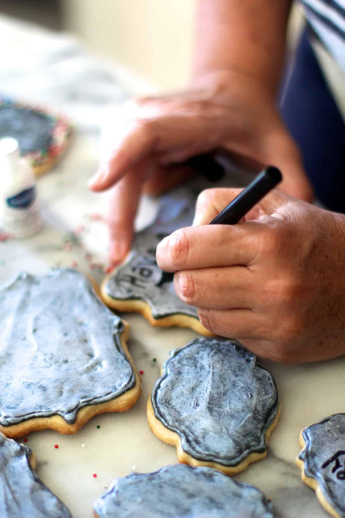 Personalized Chalkboard Sugar Cookies