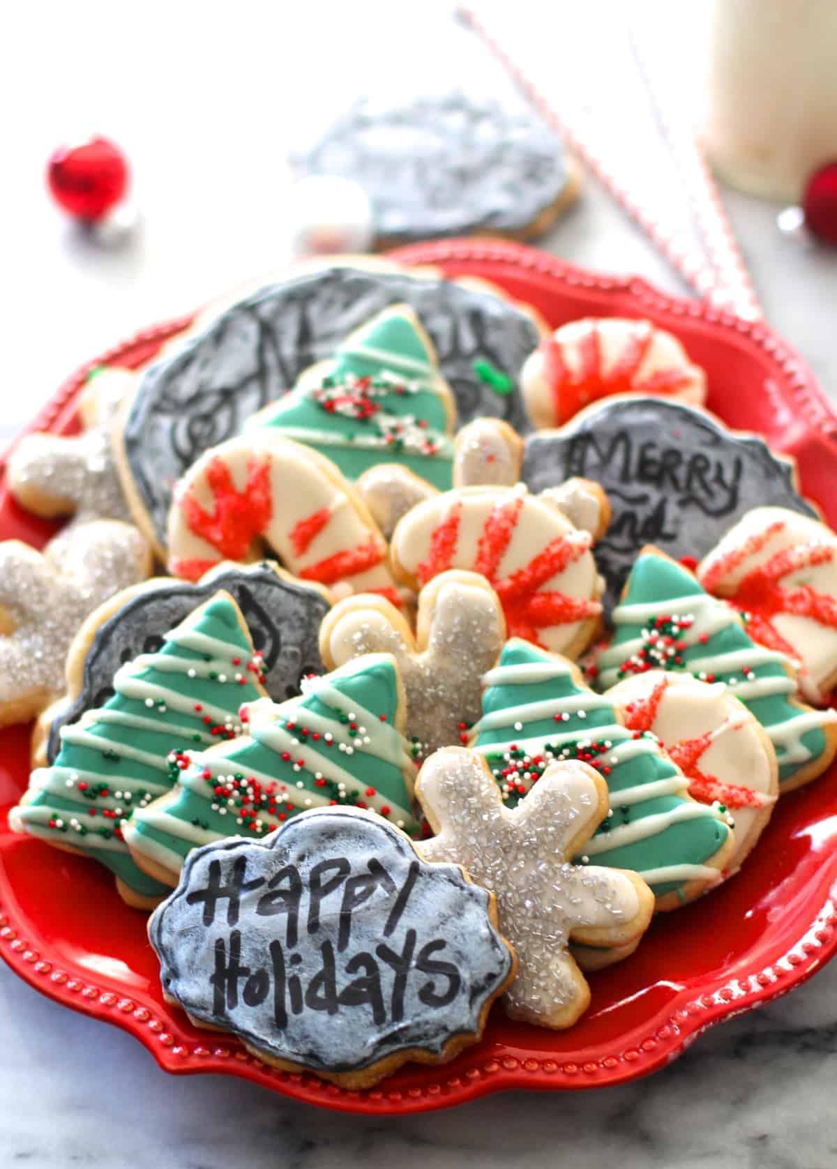 Chalkboard Sugar Cookies