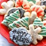 Chalkboard Christmas Cookies