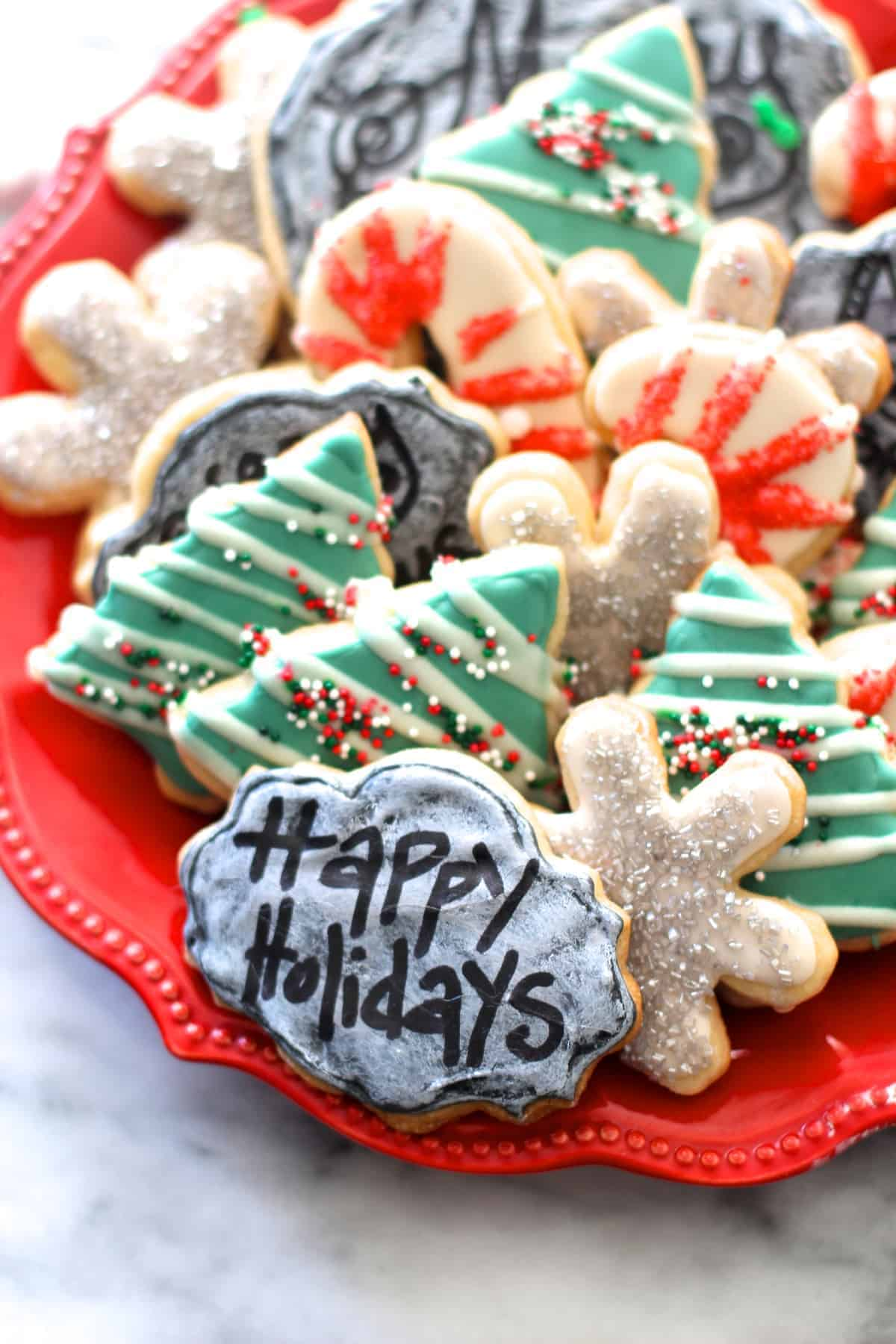 Easy Chalkboard Sugar Cookies