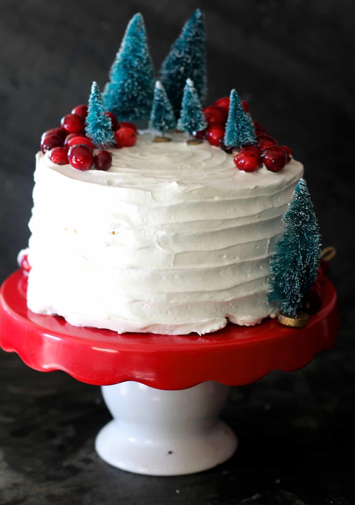 Eggnog Cheesecake Cake