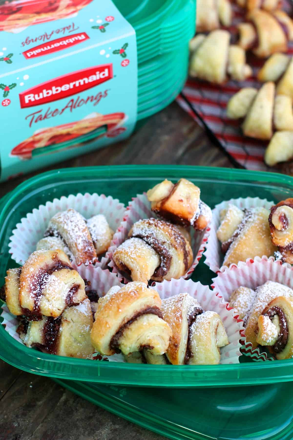 Perfect Nutella and Raspberry Jam Rugelach
