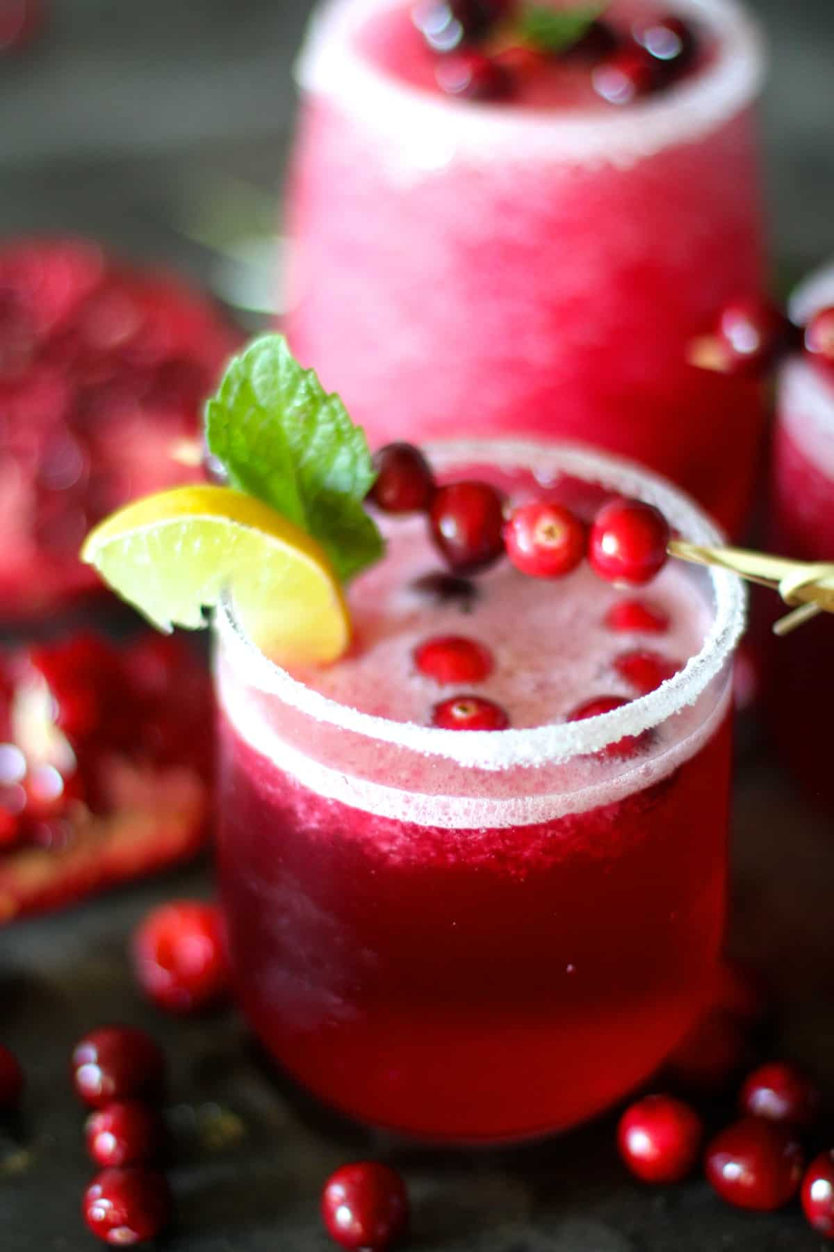 Cranberry Pomegranate Margaritas