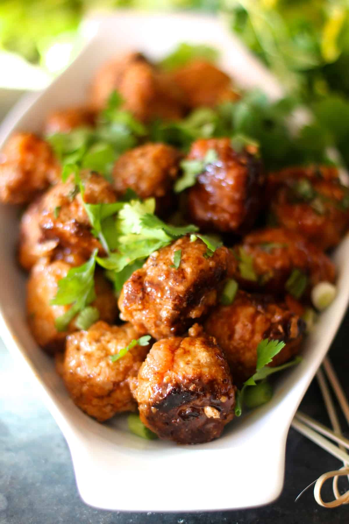 Sweet and Spicy Meatballs - The Seaside Baker