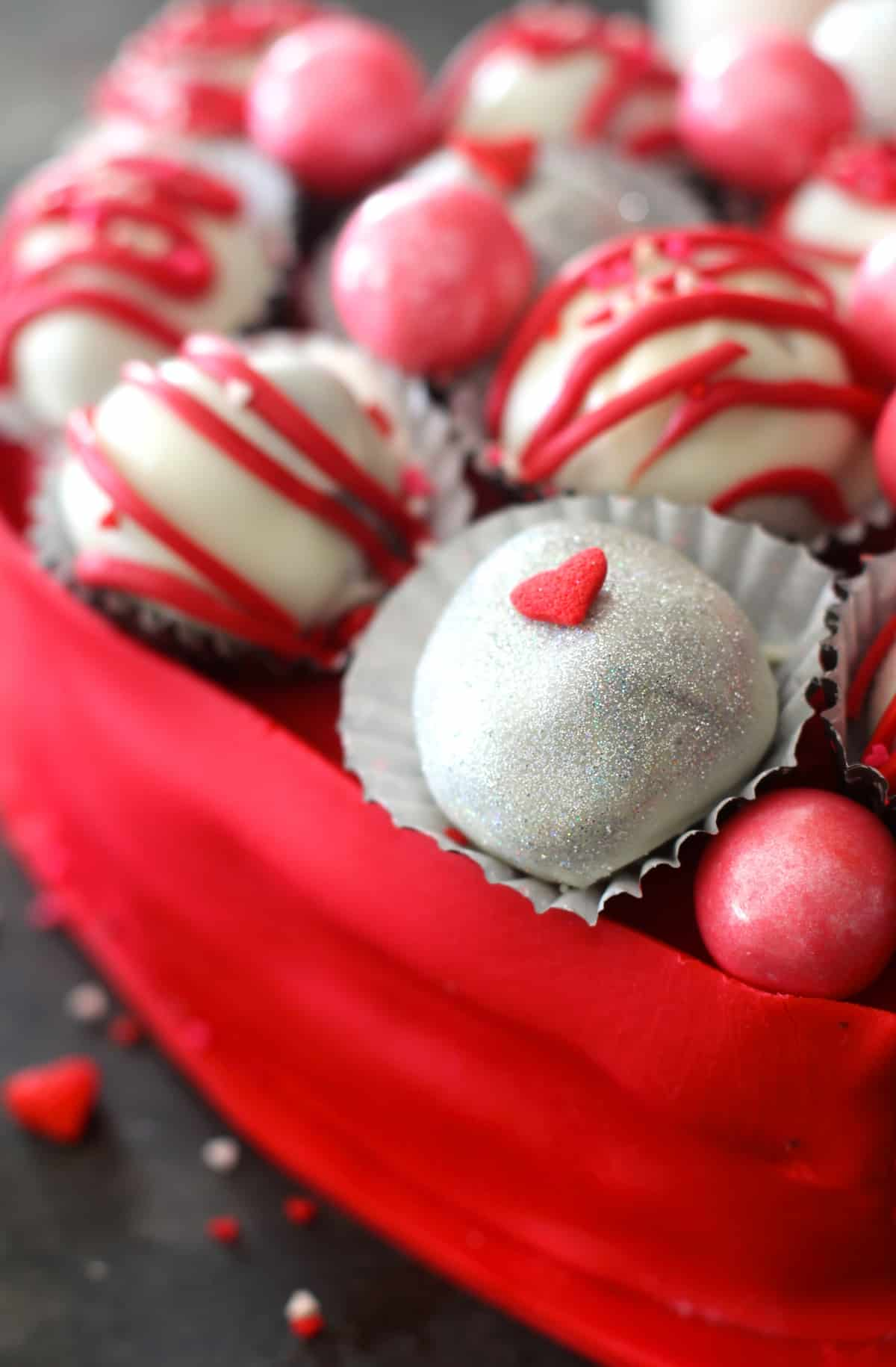 Easy homemade truffles that are decadent with a hint of almond extract
