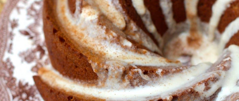 Vanilla Chai Bundt Cake with Chai Glaze