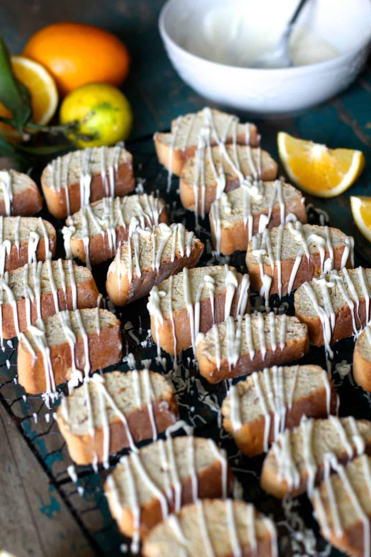 Almond Lemon Biscotti - The Seaside Baker