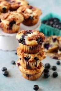 Coffee Cake Blueberry Muffins