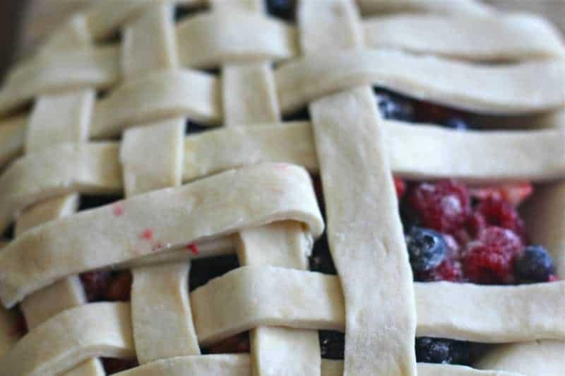 Lattice Pie Crust over Berry Pie