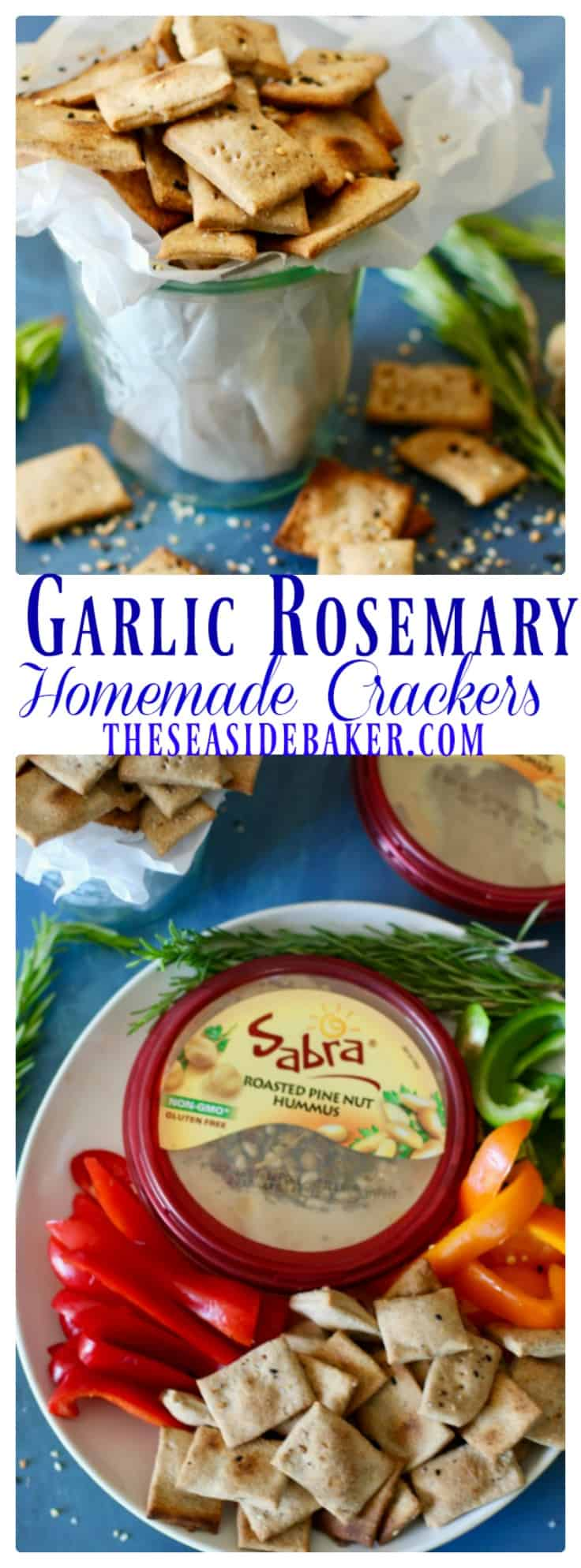 Garlic Rosemary Crackers