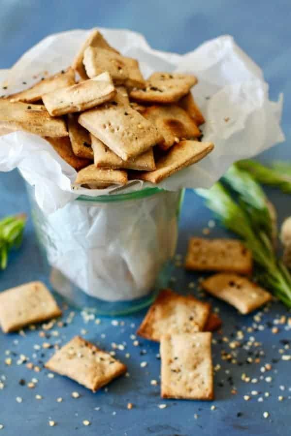 Garlic Rosemary Crackers