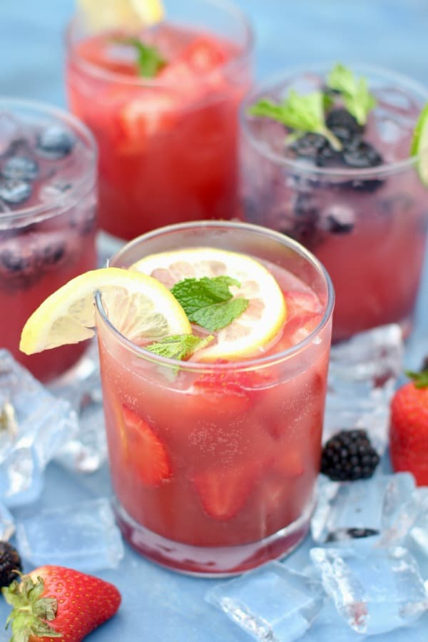 Spiked Strawberry Lemon Punch