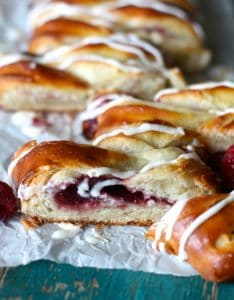 Easy Raspberry Cream Cheese Danish