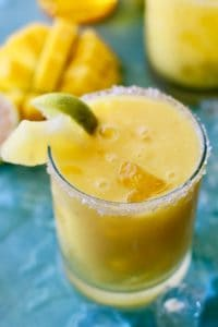 Mango Pineapple Margarita with Passion Fruit Syrup