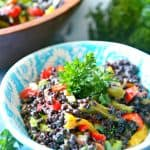 Black Lentil Rice Quinoa Salad