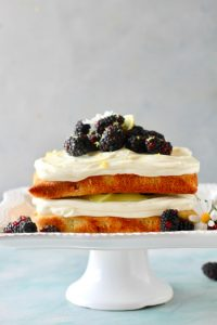 Blackberry Lemon Curd Cake