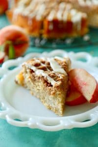 White Peach Coffee Cake