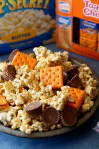Peanut Butter Carmel Corn Trail Mix