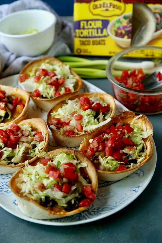 These Beef Enchilada Boats are easy to make and perfect for Sunday Football munching!