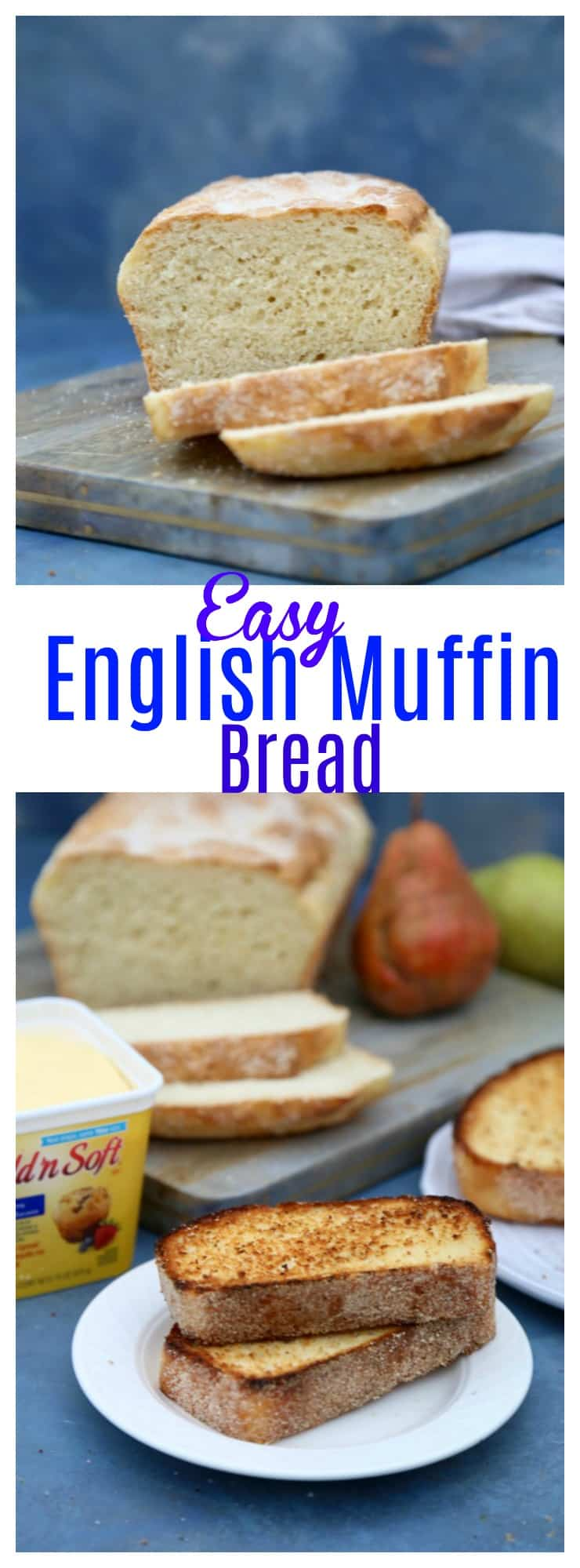 Easy English Muffin Bread. Quick bread recipe perfect for freezing.