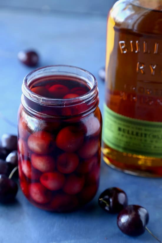 Whiskey Soaked Cherries and a Whiskey Sour