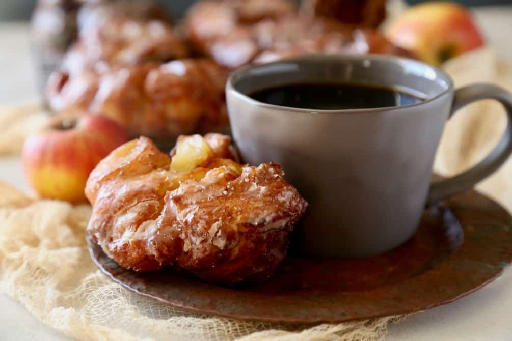 Delicious Donut Shop Apple Fritters