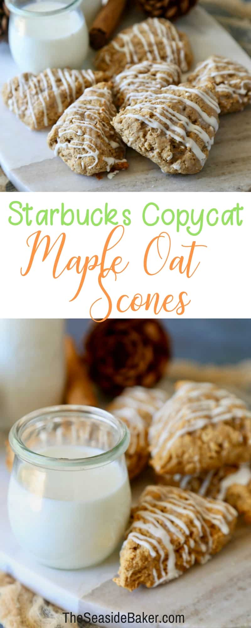 Delicious Maple Oat Scones just like the ones you buy at Starbucks!