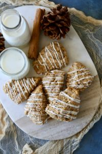 Maple Oat Scones-With White Chocolate Drizzle