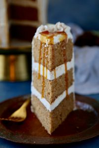 Pear Spice Cake with Salted Caramel