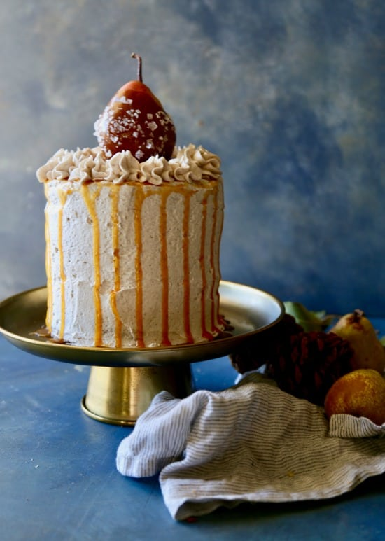 Fall inspired Pear Spice Cake