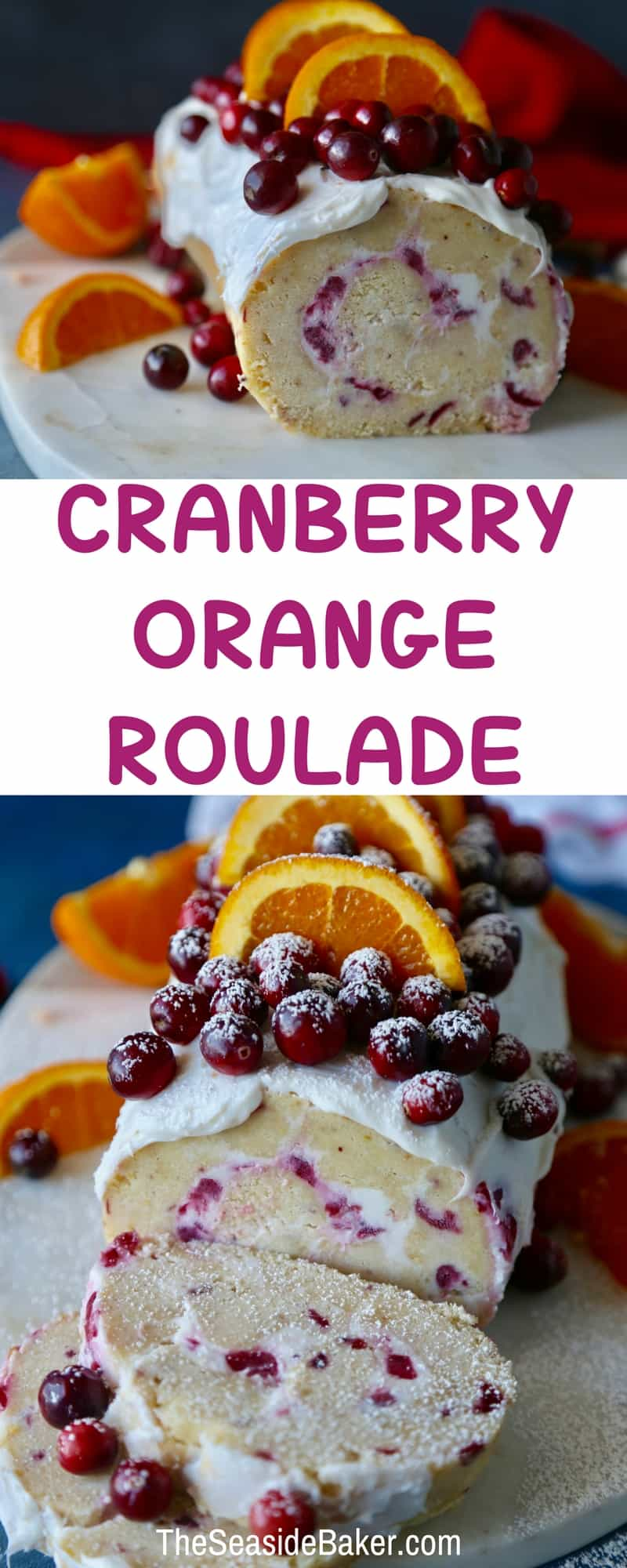Cranberry Orange Roulade