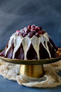 Gingerbread Bundt Cake- with Sugared Cranberries