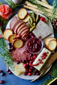 Holiday Charcuterie Board- Beautiful and Delicious