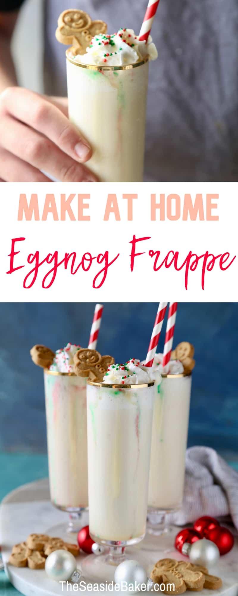 Homemade Eggnog Frappe