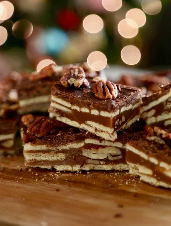 Caramel Pecan Crunch Bars