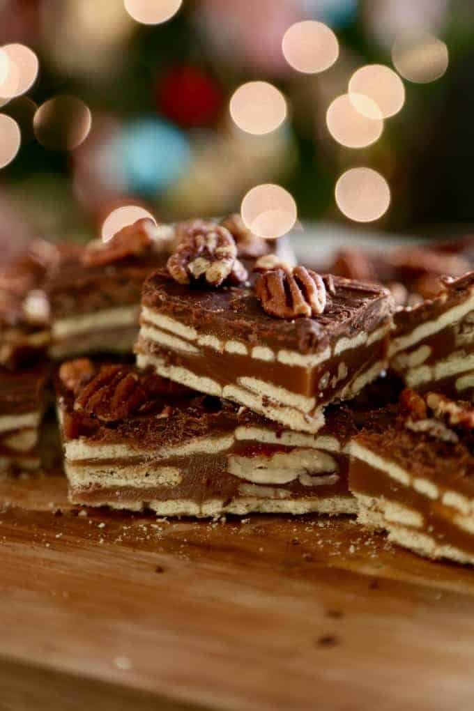 Caramel Pecan Crunch Bars