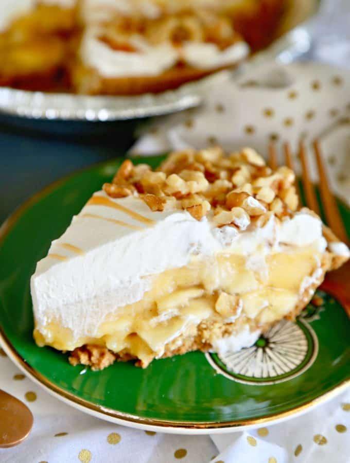Cinnamon Banana Cream Pie