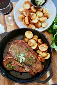Pan Fried Steak w/ Garlic Butter