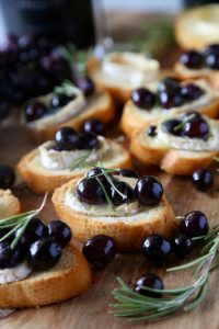 Roasted Grape Brie Crostini-Perfect Appetizer