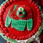 Ugly Christmas Sweat Cake