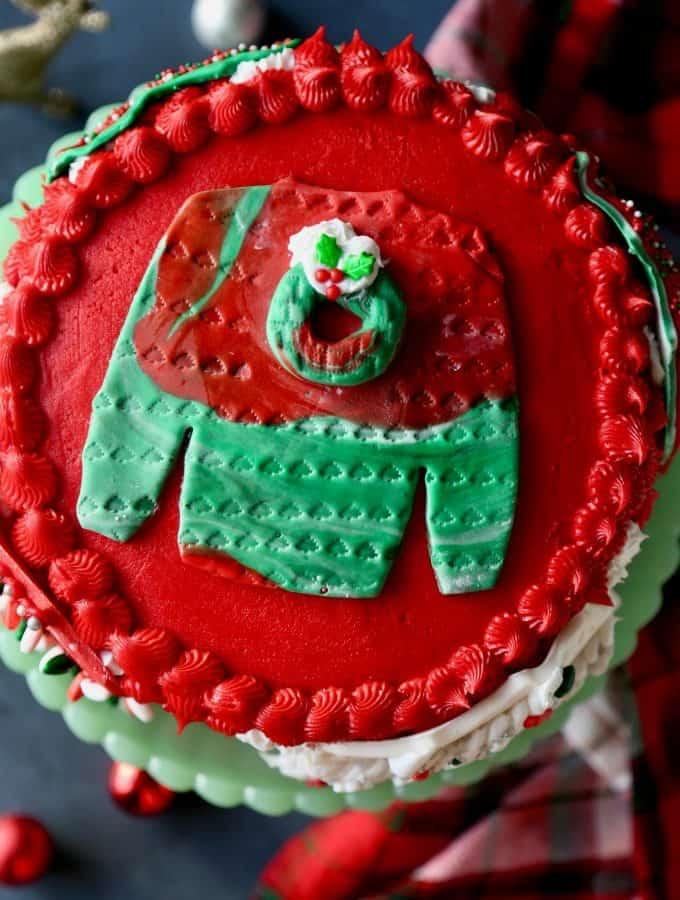 Ugly Christmas Sweat Cake