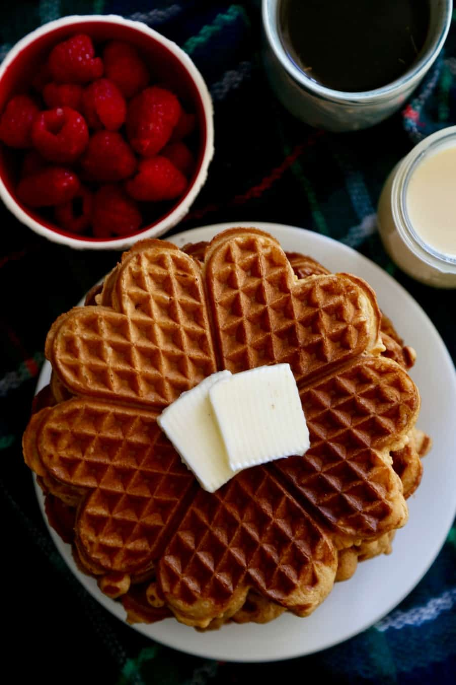 Gingerbread Waffles with Coconut Syrup