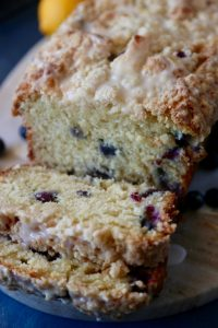 Lemon Blueberry Streusel Loaf