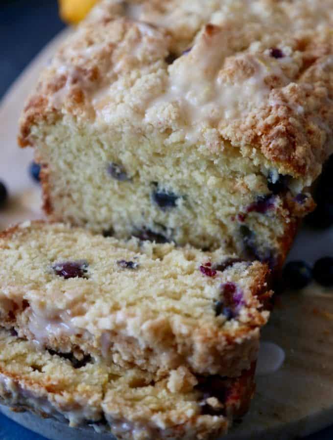 Lemon Blueberry Streusel Loaf