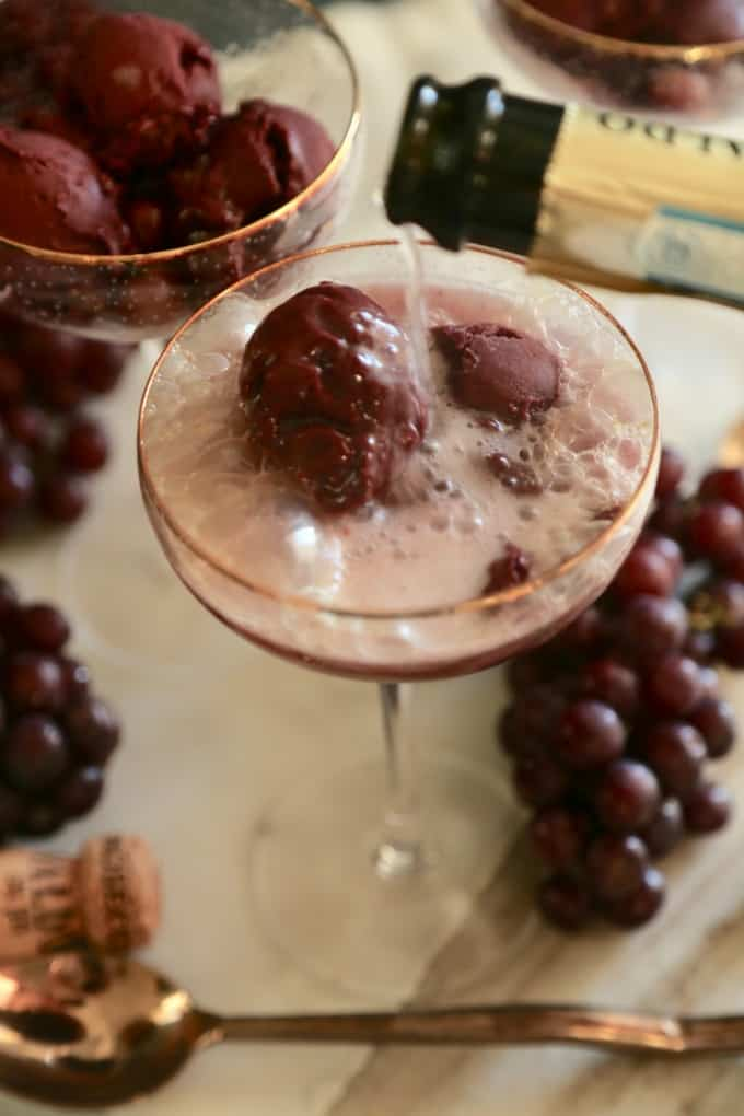 Roasted Grape Sorbet