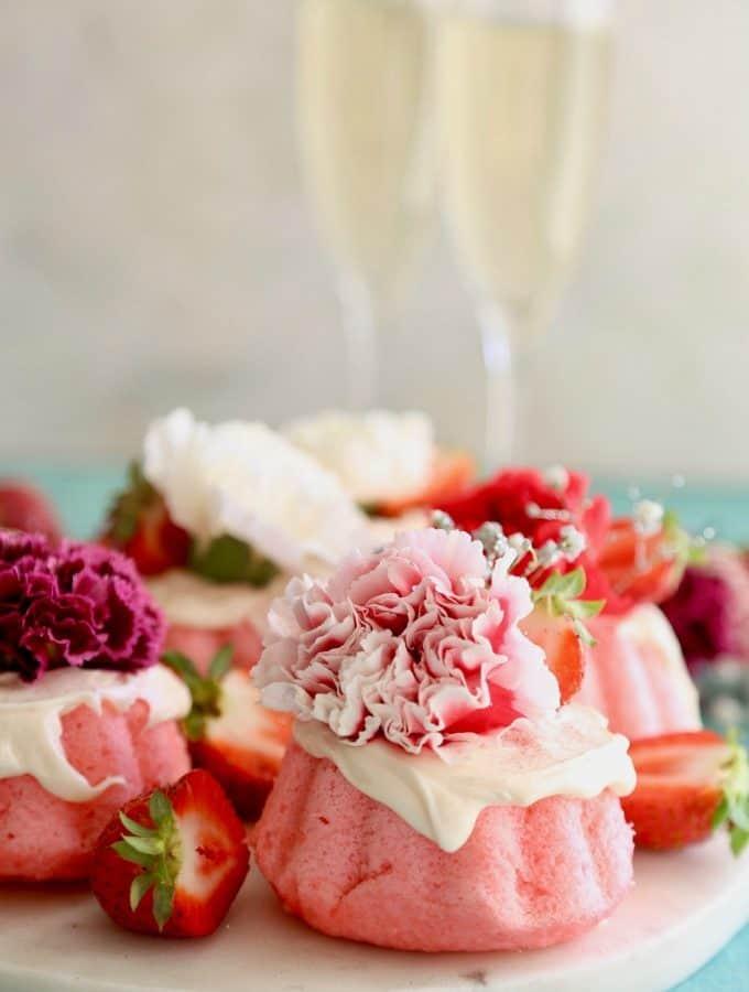 Strawberry Mini Bundt Cakes