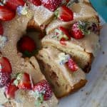 Gluten Free Strawberry Bundt Cake