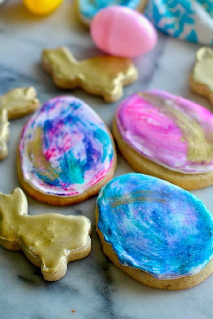 Golden Bunny Easter Cookies