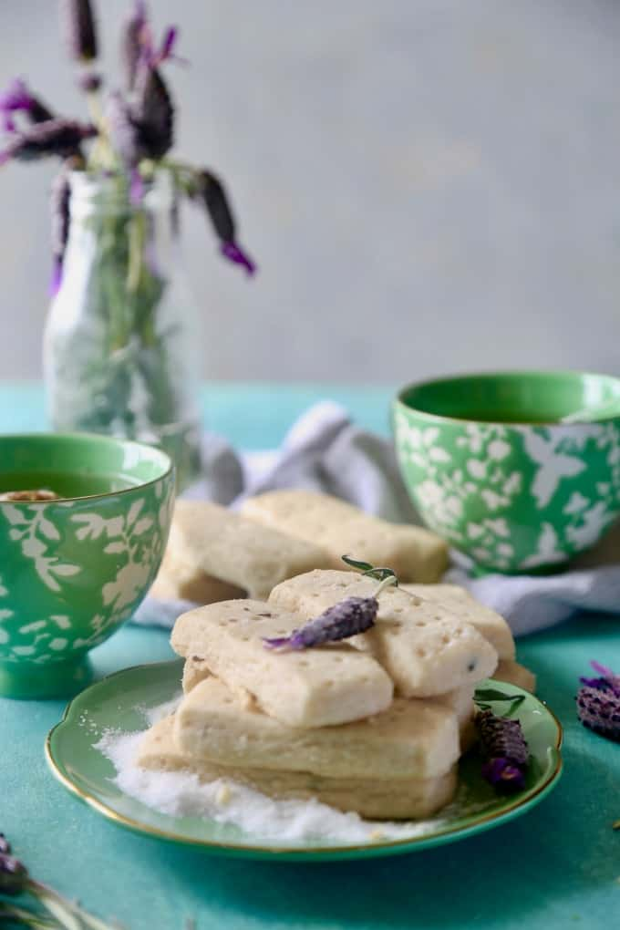 Lavender Shortbread Bars