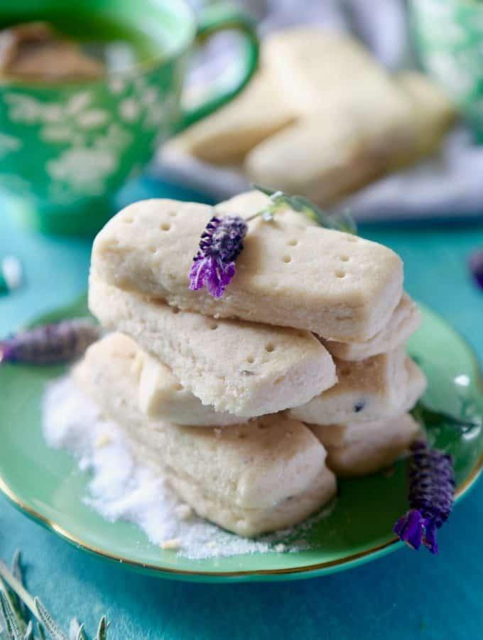 Lavender Shortbread Bars